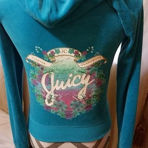 Juicy Couture turquoise velour jacket